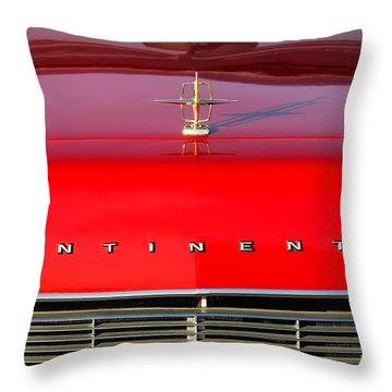 1967 Lincoln Continental Hood Ornament Grille Emblem Throw Pillow