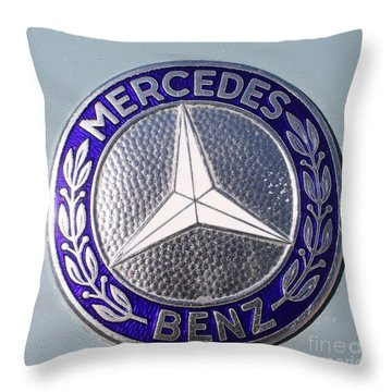 1967 Mercedes Benz Logo Throw Pillow