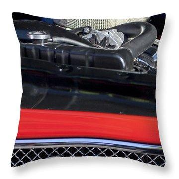 1967 Pontiac Gto Engine Emblem Throw Pillow by Jill Reger