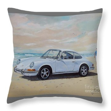1967 Porsche 911 S Coupe Throw Pillow