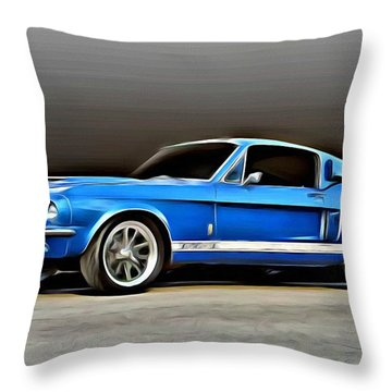 1967 Shelby Mustang Gt500 Throw Pillow