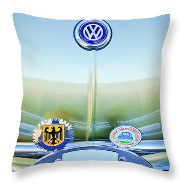 1967 Volkswagen Vw Karmann Ghia Hood Emblem Throw Pillow