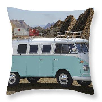 1967 Vw Bus Throw Pillow