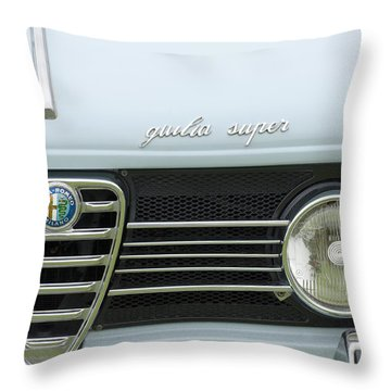 1968 Alfa Romeo Giulia Super Grille Throw Pillow by Jill Reger