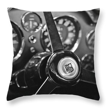 1968 Aston Martin Steering Wheel Emblem Throw Pillow