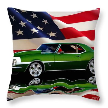 1968 Camaro Tribute Throw Pillow by Peter Piatt