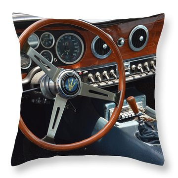 1968 Maserati Interior Throw Pillow