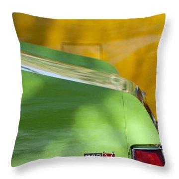 1969 Amc Javelin Sst Taillight Emblem Throw Pillow by Jill Reger