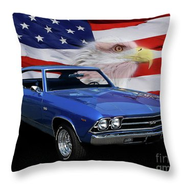 1969 Chevelle Tribute Throw Pillow by Peter Piatt