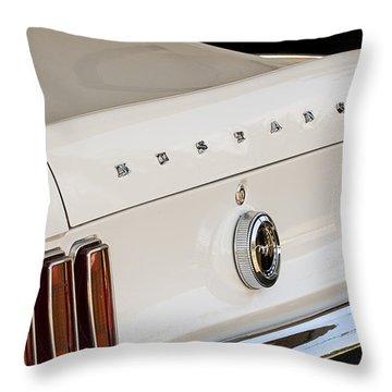 1969 Ford Mustang Boss 429 Taillight Emblem Throw Pillow by Jill Reger