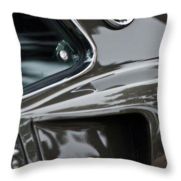 1969 Ford Mustang Mach 1 Emblem 2 Throw Pillow by Jill Reger