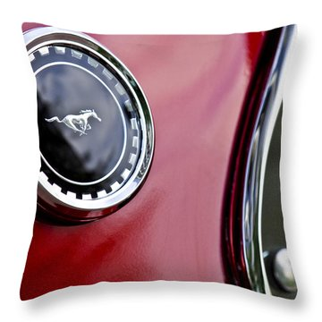 1969 Ford Mustang Mach 1 Throw Pillow by Jill Reger