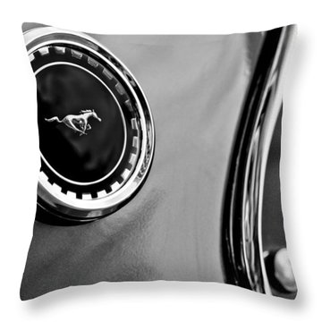 1969 Ford Mustang Mach 1 Side Emblem Throw Pillow by Jill Reger
