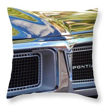 1969 Pontiac Firebird 400 Grille Throw Pillow by Jill Reger