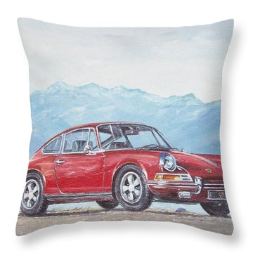 1969 Porsche 911 2.0 S Throw Pillow