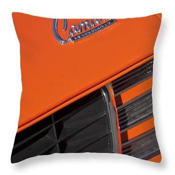 1969 Rs-ss Chevrolet Camaro Grille Emblem Throw Pillow by Jill Reger
