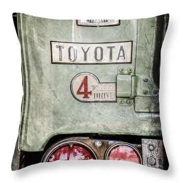 1969 Toyota Fj-40 Land Cruiser Taillight Emblem -0417ac Throw Pillow