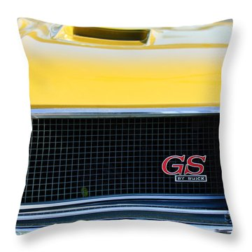 1970 Buick Gs Grille Emblem Throw Pillow by Jill Reger