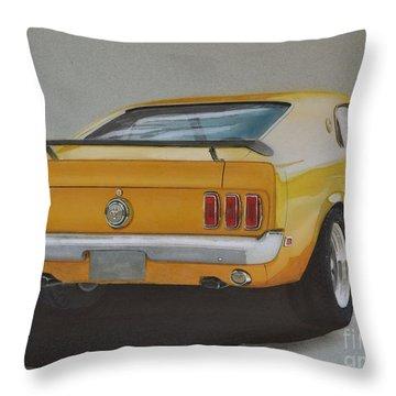 1970 Mustang Fastback Throw Pillow by Paul Kuras