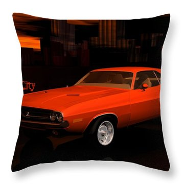 1971 Challenger Throw Pillow by John Pangia