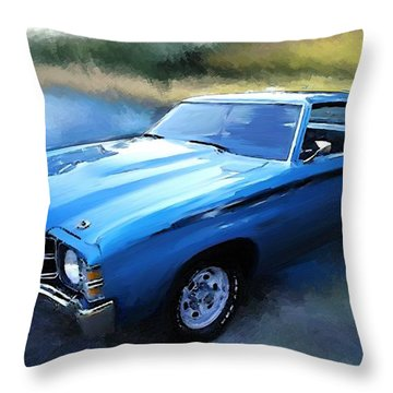 1971 Chevy Chevelle Throw Pillow by Robert Smith