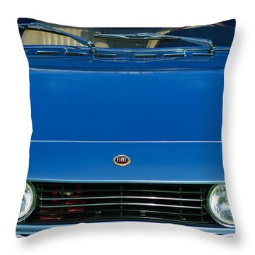 1971 Fiat Dino 2.4 Grille Throw Pillow by Jill Reger