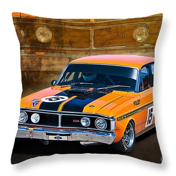 1971 Ford Falcon Xy Gt Throw Pillow