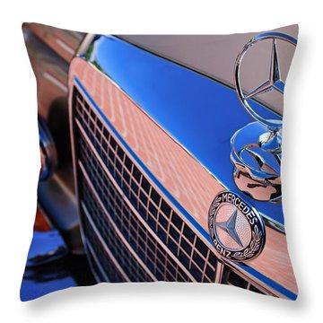 Throw Pillow featuring the photograph 1971 Mercedes-benz 280se 3.5 Cabriolet  by Jill Reger