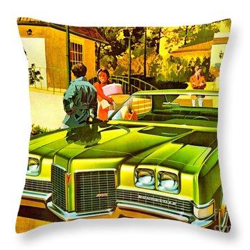 1971 Pontiac Bonneville Coupe Throw Pillow