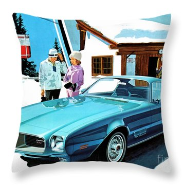 1971 Pontiac Firebird Espirit Throw Pillow