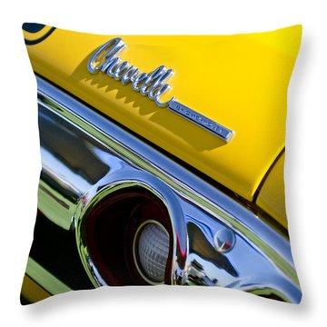 1972 Chevrolet Chevelle Taillight Emblem Throw Pillow by Jill Reger