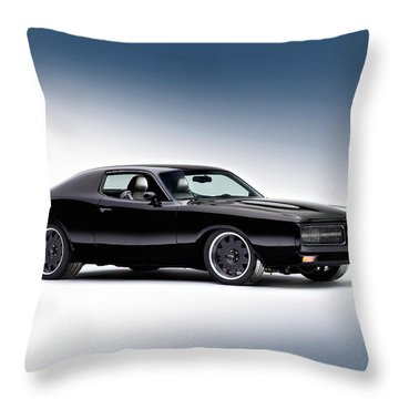 1972 Dodge Charger Throw Pillow by Gianfranco Weiss