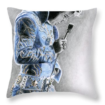 1972 Light Blue Wheat Suit Throw Pillow