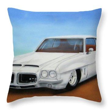 Throw Pillow featuring the painting 1972 Pontiac Gto by Thomas J Herring