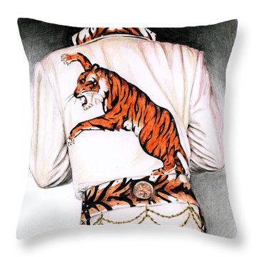1974 Mad Tiger Suit Throw Pillow by Rob De Vries