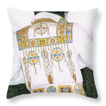 1975 Indian Chief Suit Throw Pillow by Rob De Vries