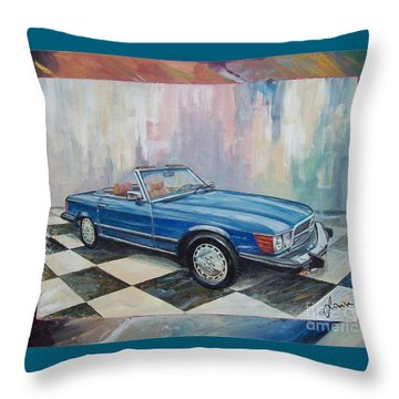 1976 Mercedes-benz 450 Sl Throw Pillow