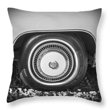 1978 Cadillac Eldorado Bw Throw Pillow