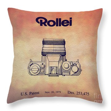 1979 Rollei Camera Patent Art 2 Throw Pillow
