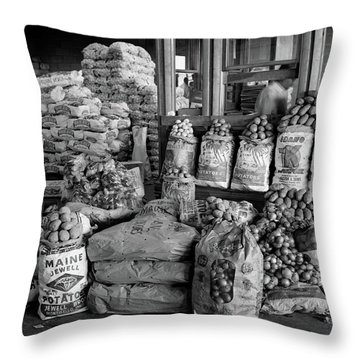 1980s Still Life Of Bags Of Various Throw Pillow