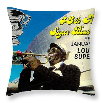 1982 Sugar Bowl Ticket Throw Pillow by David Patterson
