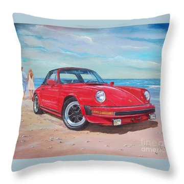 1985 Porsche 911 Targa Throw Pillow