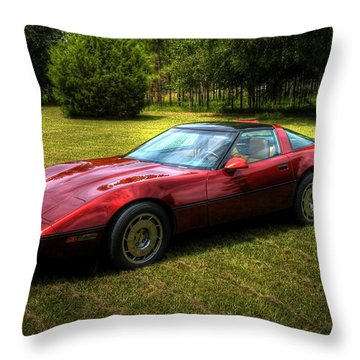 Throw Pillow featuring the photograph 1986 Corvette by Donald Williams