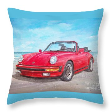 1987 Porsche Carrera Cabriolet Throw Pillow