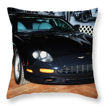 1997 Aston Martin Db7 Throw Pillow