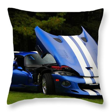 1997 Viper Hennessey Venom 650r 4 Throw Pillow