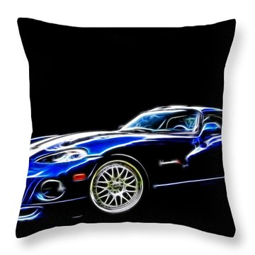 1997 Viper Hennessey Venom 650r 5 Throw Pillow by Davandra Cribbie