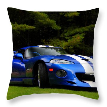 1997 Viper Hennessey Venom 650r Throw Pillow by Davandra Cribbie