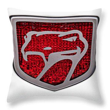 1998 Dodge Viper Gts-r Emblem Throw Pillow