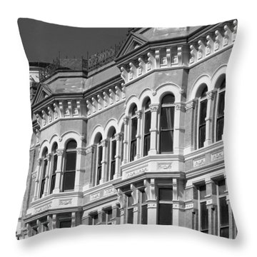 19th Century Architecture Bw Throw Pillow by Connie Fox